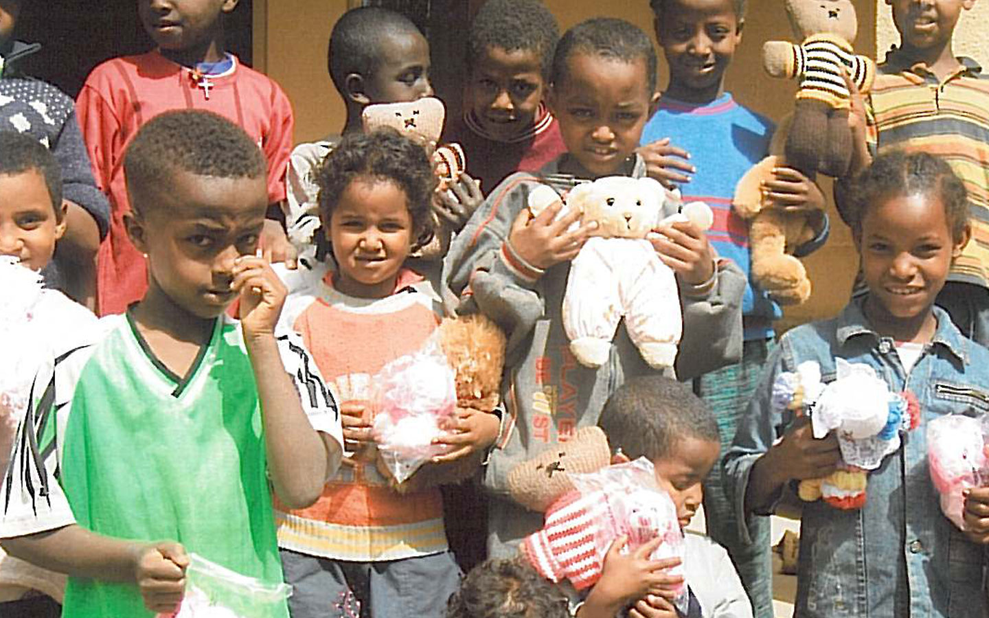 330 teddy bears cross the oceans to the children of Kebebe Tshay Orphanage.